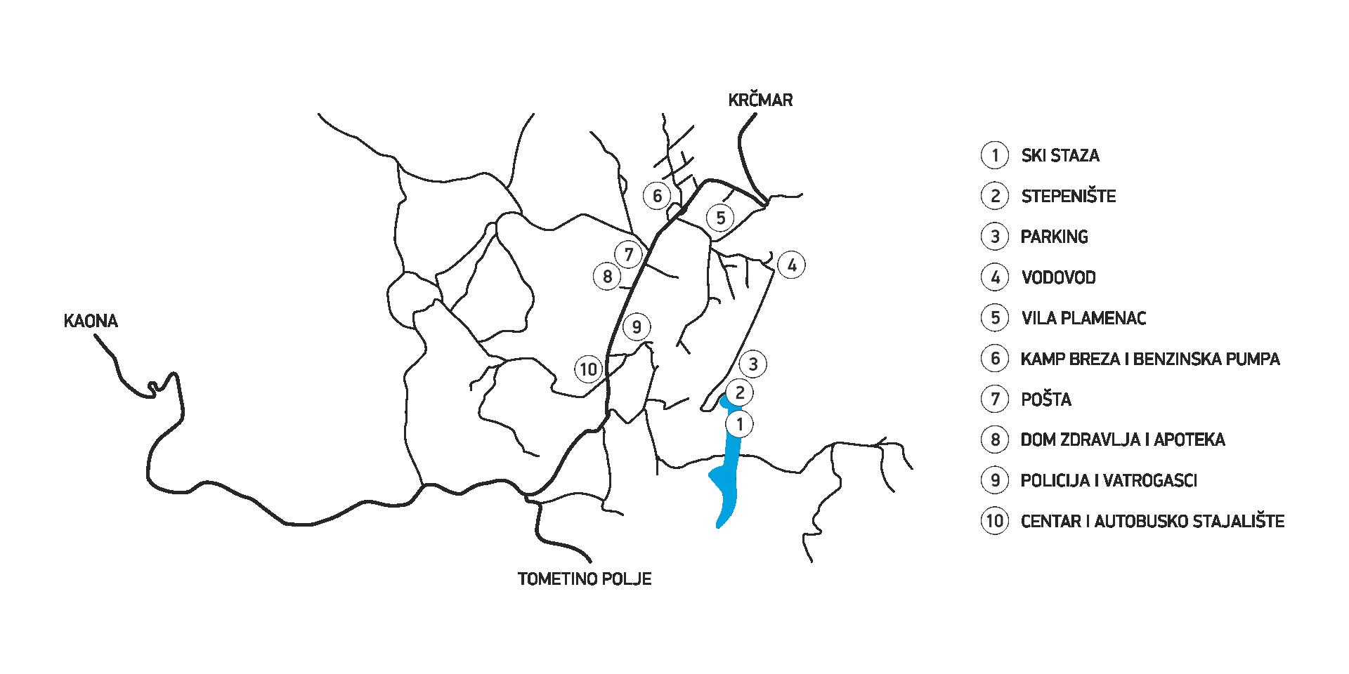 Mapa Divcibara